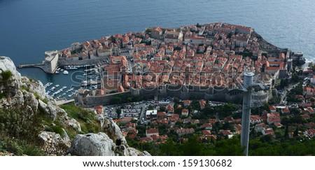 Dubrovnik fortified town, Croatia, Europe - stock photo