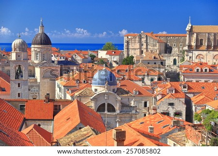 Dubrovnik Old Town With Old