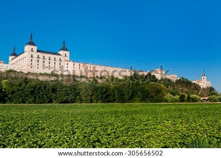 Ducal Palace, Lerma, Burgos, Castilla and Leon, Spain  - stock photo