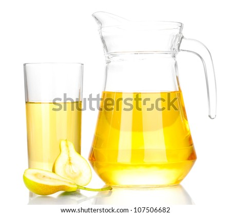 duchess drink with pears isolated on white