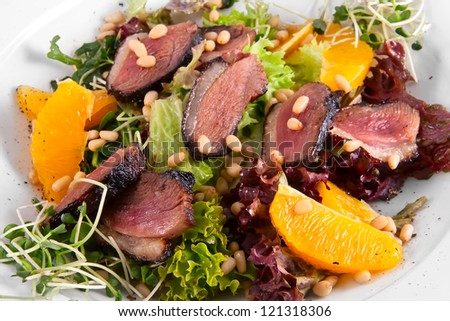Duck Breast with Orange - stock photo