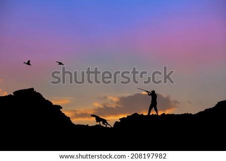 Duck Hunting  - stock photo