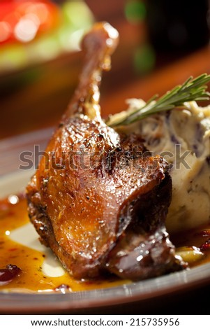 Duck Legs with Mashed Potato