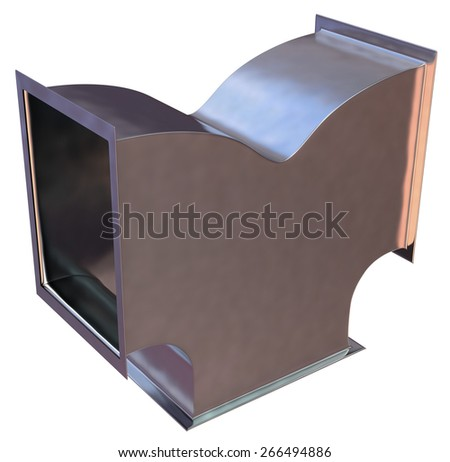 Duct work isolated on white - stock photo