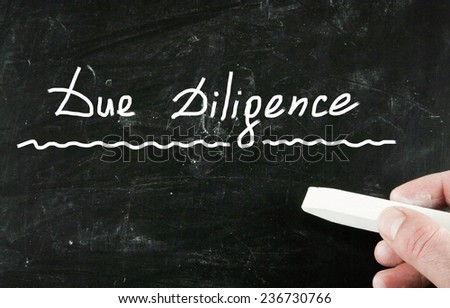 due diligence - stock photo