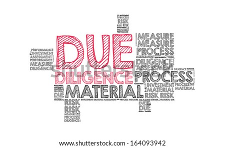 Due diligence in word cloud - stock photo