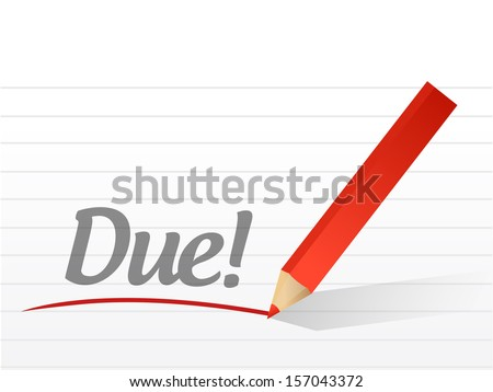 due message written over a paper background - stock photo