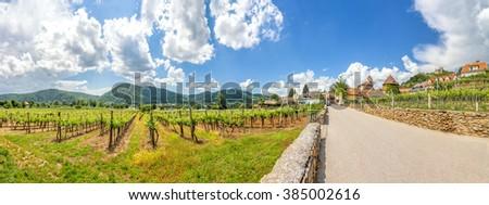 Duernstein, Danube, Austria  - stock photo