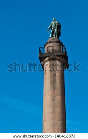Duke of York Column monument in London, England (against a blue sky) - stock photo