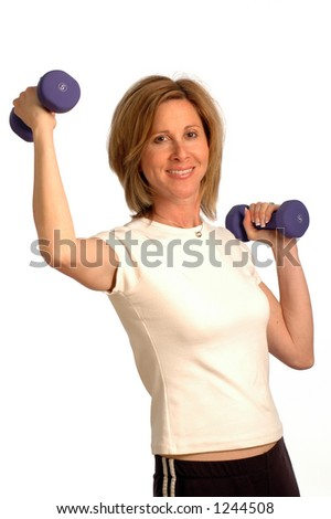DUMBBELL PRESS - stock photo