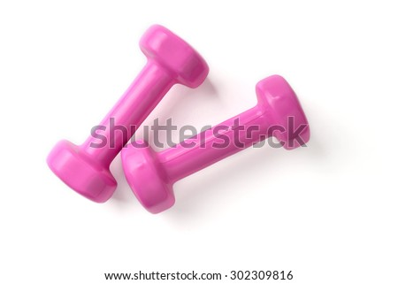Dumbbells isolated on white