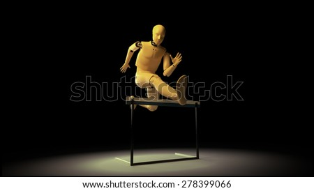 dummy in jump - stock photo