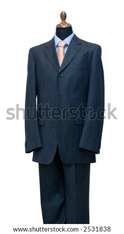 Dummy, isolated on white, clipping path included - stock photo
