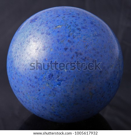Dumortierite ball. Closeup.