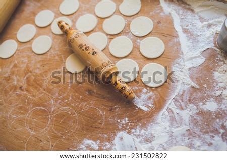 dumplings - stock photo