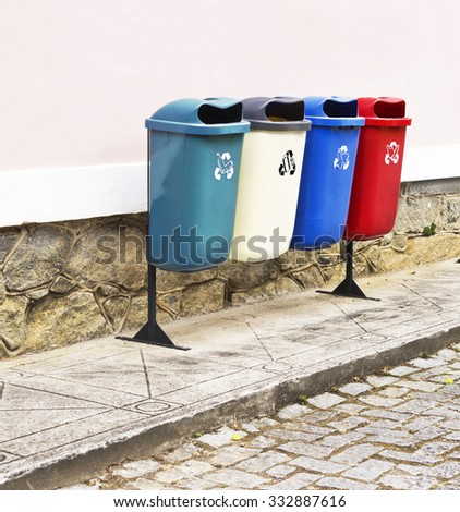 Dumps for garbage collection â?? recyclable - stock photo