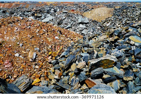 Dumps of depleted ore - stock photo