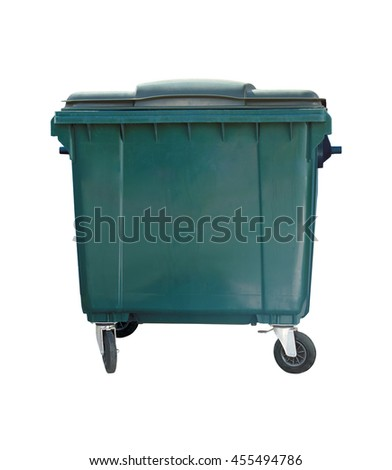 Dumpster isolated. Trash can on the white background - stock photo