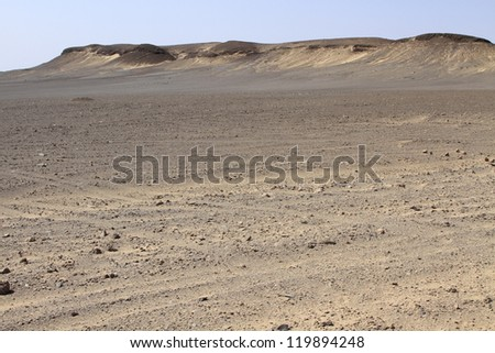 Dune and gravel plains in Skeleton Coast Park. Namibia