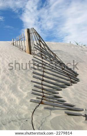 Dune Fence - stock photo