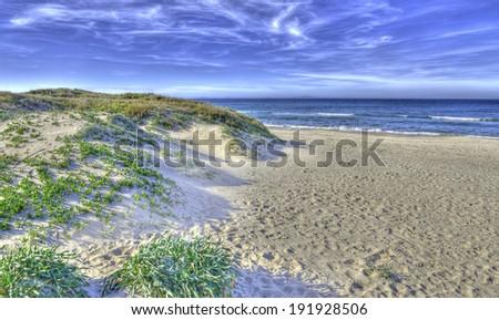 dune in platamona beach, Sardinia - stock photo