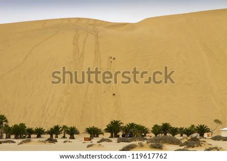 Dune 7, recreation area. Walvis Bay. Namibia - stock photo