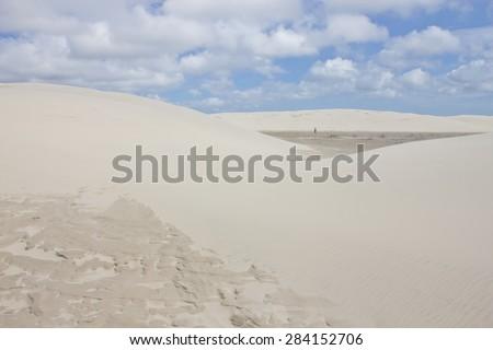 Dunes at Cidreira - Rio Grande do Sul - Brazil - stock photo