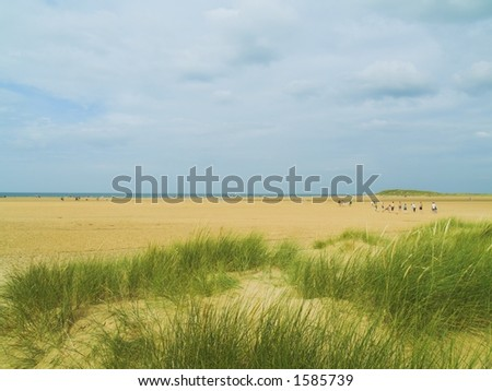 Dunes at Holkham Beach, North Norfolk, England - stock photo