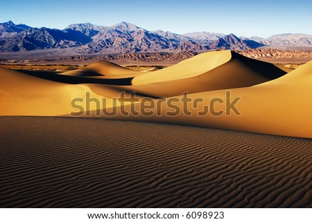 Dunes at Stove Pipe Wells - stock photo