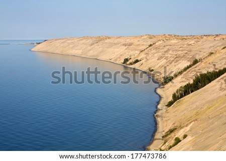 Dunes in Pictured Rocks National Lakeshore - stock photo