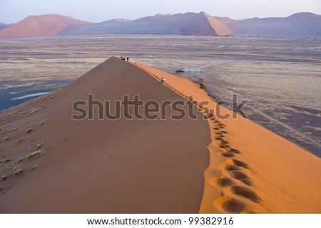 Dunes in Sossusvlei. Namibia - stock photo