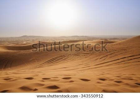 Dunes in The Empty Quarter, Abu Dhabi, United Arab Emirates - stock photo