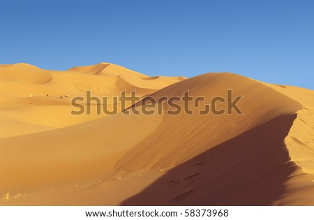 Dunes of Chebbi erg in Moroccan Sahara