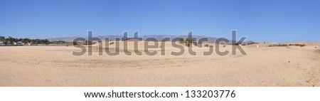 Dunes of Maspalomas, Gran Canaria, Canary Islands, Spain - stock photo