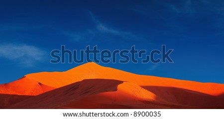 Dunes of Namib Desert. Sossusvlei, Namibia - stock photo