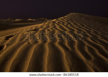 dunes sand night travel canary islands beautiful - stock photo