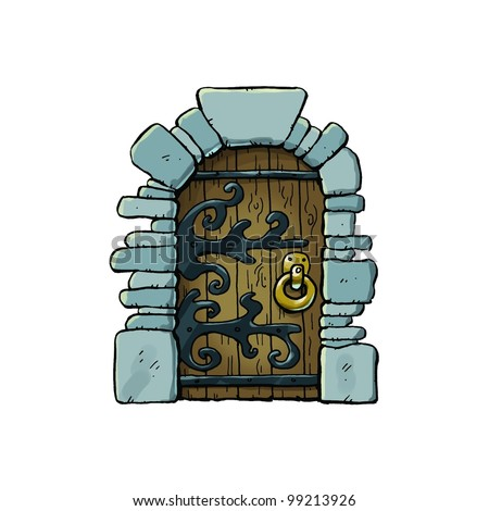 Dungeon Door - stock photo