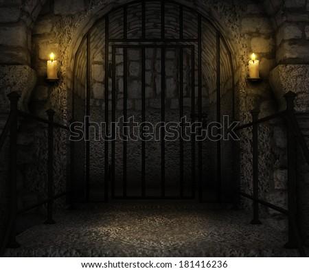 Dungeons Palace Background - stock photo