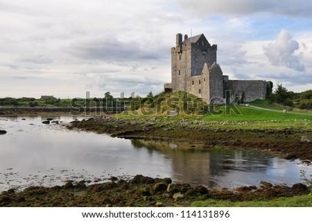 Dunguaire Castle, Kinvara Bay, Galway, Ireland - stock photo