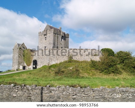 Dunguaire castle, located  close to Galway, western of Ireland. - stock photo