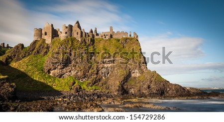 Dunluce Castle - stock photo