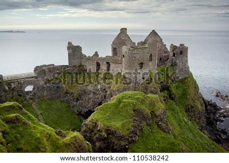 Dunluce Castle, Antrim, Northern Ireland - stock photo