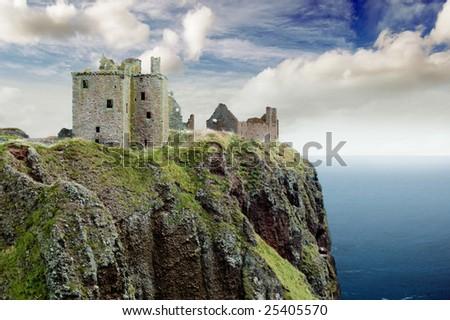 Dunnotar castle, Stonehaven, Scotland - stock photo