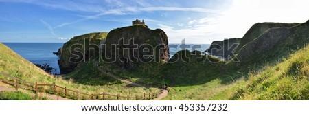Dunnottar Castle  panorama - stock photo