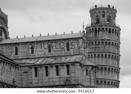 Duomo and leaning tower, Pisa. Tuscany, Italy