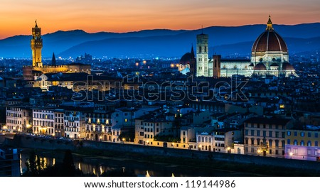Duomo (cathedral), Florence, Tuscany, Italy - stock photo