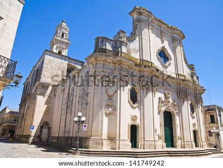 Duomo Cathedral of Maglie. Puglia. Italy.
