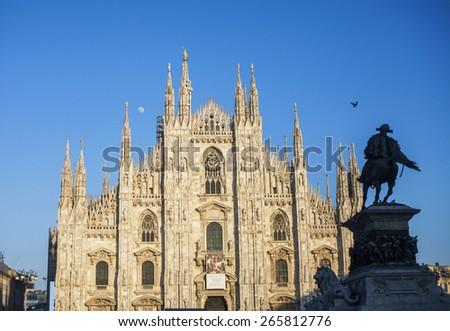 Duomo cathedral of Milan, Italy - stock photo