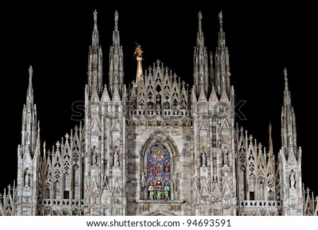 Duomo di Milano by night - stock photo