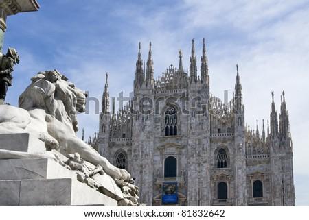 Duomo di Milano - Cathedral in Milan, Italy - stock photo
